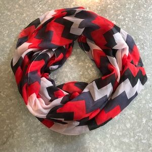 Red White and Blue Chevron Infinity Scarf!
